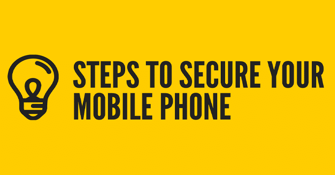 secure your mobile phone